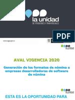 La Unidad Beneficios para todos - AVAL 2019 - 2020 (1)