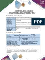 Guía de actividades y rúbrica de evaluación - Tarea 2 - Resignificar conceptos del diseño de proyecto (1)