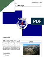 Loriga - Wikipédia - Artigo Criado Pelo Historiador António Conde