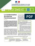 Théma - La modernisation du droit de l'environnement