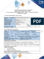 Activity guide and evaluation rubric - Step 2- Concepts and basic principles of design