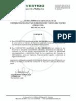 Coovestido - Certificación