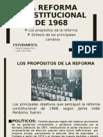 La reforma constitucional de 1968