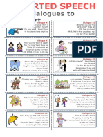 Reported Speech 12 Dialogues to Report Clt Communicative Language Teaching Resources Conv 115163