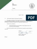 Jefferson County Board of Legislators Special Session March 19, 2020