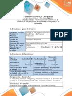 Guia de actividades Fase 2 - Identificar los principios de la contratación pública en Colombia