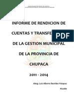 MODELO DE INFORME RENDICION DE CUENTAS Y TRANSFERENCIA DE GESTION