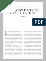 Narrativa femenina Española actual