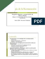 Fernando Valladares Ecologia de la restauración esquema 2006