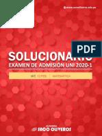 SOLUCIONARIO UNI 2020-1 MATEMÁTICA