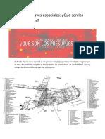 Diseño de naves espaciales, Que son los presupuestos..pdf