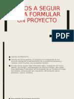 pasos formulacion de proyectos