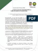 Comunicado #066 Decreto Calamidad Pública Dosquebradas