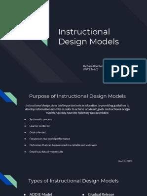 Task 2 Instructional Design Models 2 1 Instructional Design Motivation