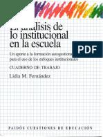 El análisis de lo institucional en la escuela (C. de trabajo.pdf
