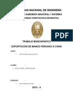 EXPORTACIÓN DE MANGO PERUANO A CHINA