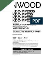 radio kenwood KDC-MP235CR