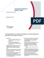 Assessment of Economic Impact of Wireless Broadband in India