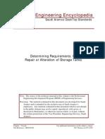 Repair & Alteration of Storage Tanks