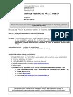 Pregão nº 033-2012 - Aquisições de materiais de consumo (produtos químicos).