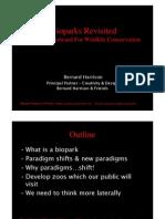 Bioparks Revisited