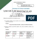 GUIA DE APRENDIZAJE- mayúsculas 2°