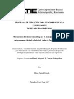 Mecanismo de Financiamiento de Organismos de Cooperacion