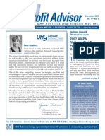 UHY Not-for-Profit Newsletter - December 2007