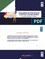 Resumen Estudio Violencia contra las Mujeres en la Política Municipal PNUD 2019