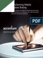 Transforming Mobile Handset Testing