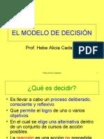 Modelo general de decisión