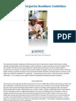 Seattle Kindergarten Readiness Guidelines