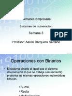 Operaciones Binarios