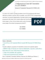 Lista de Códigos de Configuración en Línea para el Conmutador Panasonic Hibrido Panasonic KX-TES824 con Operadora Automática Incluida e Identificador de Llamadas en las Extensiones.pdf