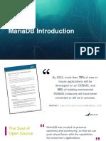 MariaDB - Introduction to MariaDB v1 6