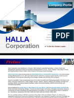 1. HALLA CORPORATION COMPANY PROFILE