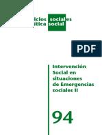 intervencion social en emergencias sociales II