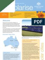 August 2009 Solarrise Newsletter, Australia Solar Cities