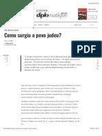 Como surgiu o povo judeu? - Le Monde Diplomatique
