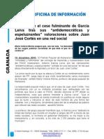 Cargos públicos socialistas contra Juan J. Cortés
