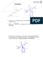 1 Inclined Plane Problems SOLUTIONS
