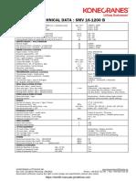 Konecranes SMV 16-1200 Specification