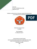 CRS - General anestesi pada ileus obstruksi fix