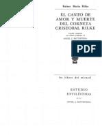 Rilke Rainer María - El canto de amor y muerte del corneta Cristóbal Rilke