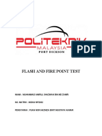 FLASH AND FIRE POINT TEST