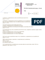 lista de exercícios_comprimento da circunferencia
