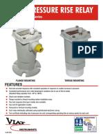 Rapid pressure rise relays