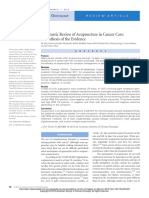 Systematic review of acupuncture in cancer care a synthesis of the evidence Garcia 2013
