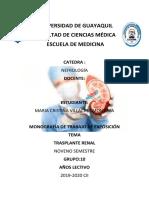 Monografias de trasplante renal de expo