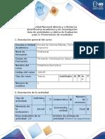 Guía de actividades y rúbrica de evaluación - Paso 5 - Presentación de resultados.docx